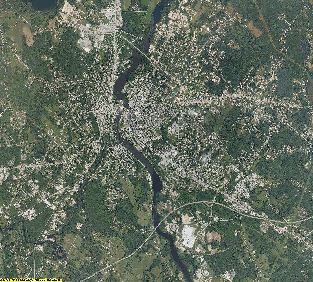 Androscoggin County, Maine aerial photography