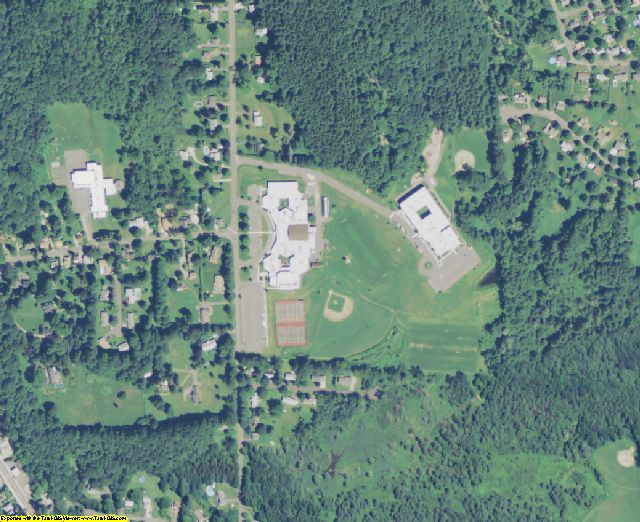 Berkshire County, MA aerial photography detail