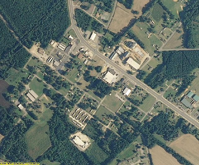 Bladen County, NC aerial photography detail