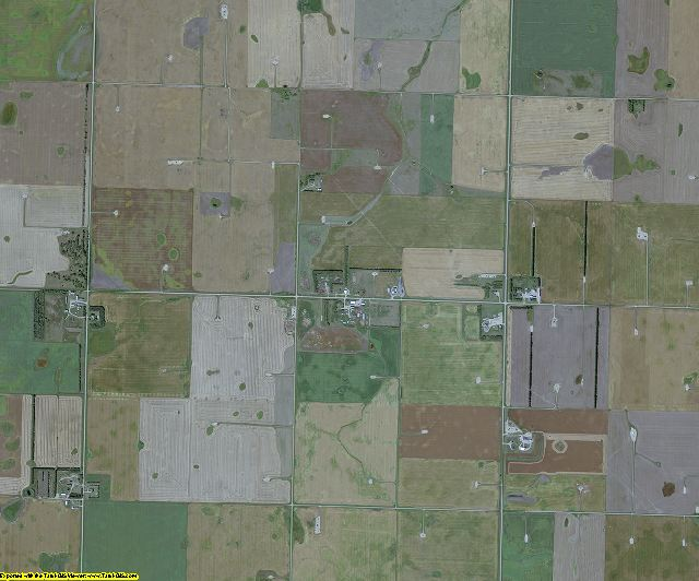 Bottineau County, North Dakota aerial photography