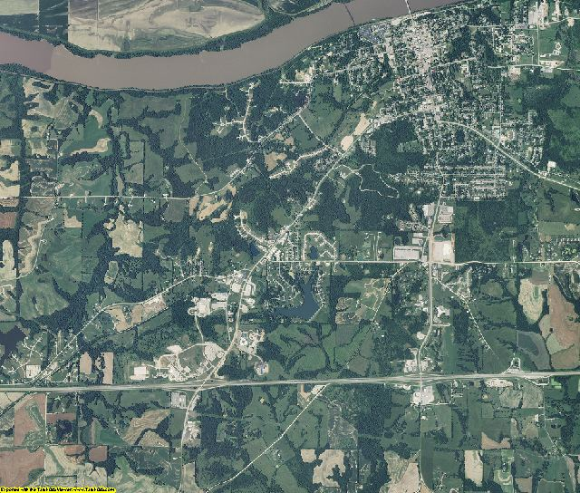 Cooper County, Missouri aerial photography