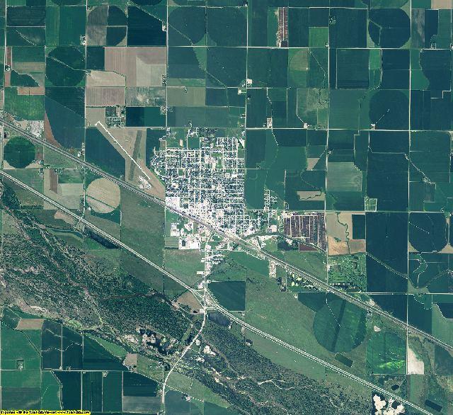 Dawson County, Nebraska aerial photography