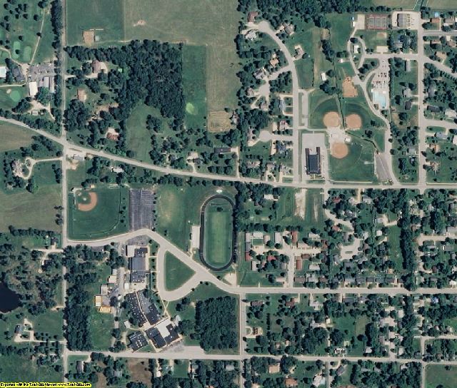 Dent County, MO aerial photography detail