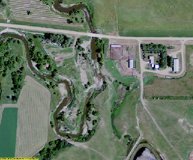 Emmons County, ND aerial photography detail