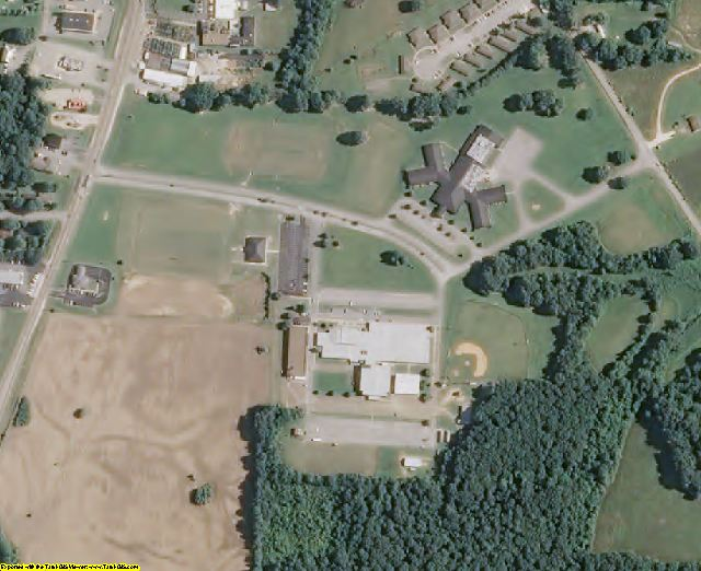 Gibson County, TN aerial photography detail