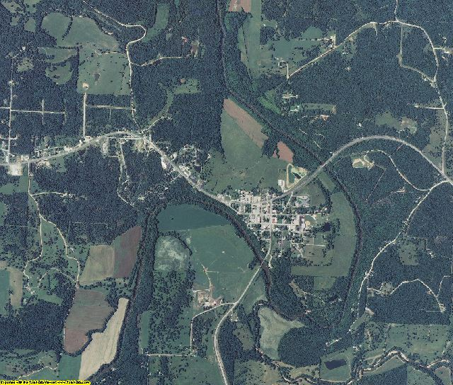 Hickory County, Missouri aerial photography
