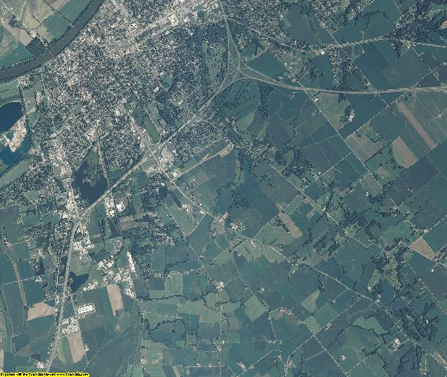 Knox County, Indiana aerial photography