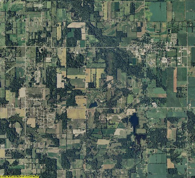 Lapeer County, Michigan aerial photography