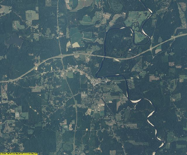 Lawrence County, Mississippi aerial photography