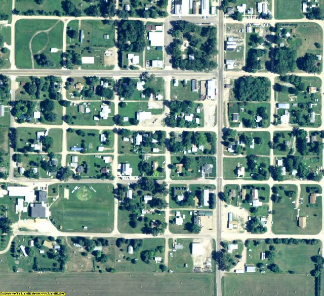 Loup County, NE aerial photography detail