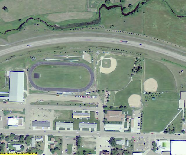 Mercer County, ND aerial photography detail