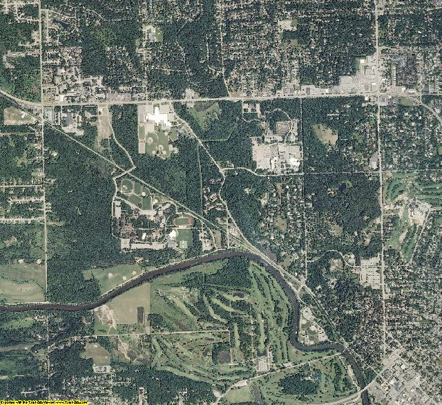 Midland County, Michigan aerial photography