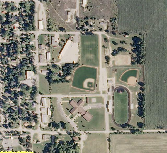 Missaukee County, MI aerial photography detail