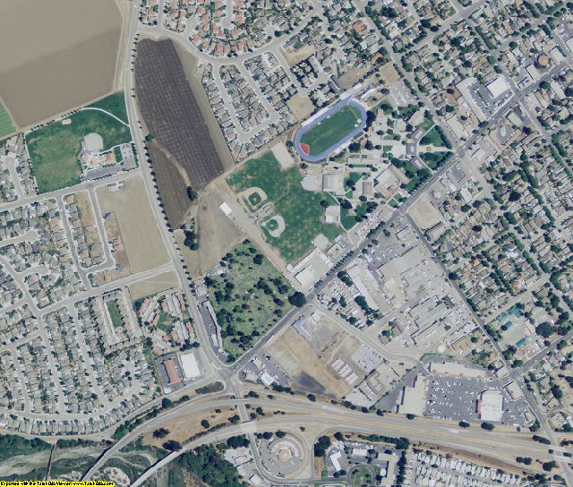 Monterey County, CA aerial photography detail