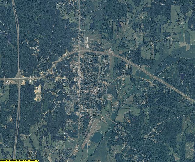 Montgomery County, Mississippi aerial photography