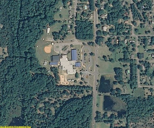 Montgomery County, NC aerial photography detail