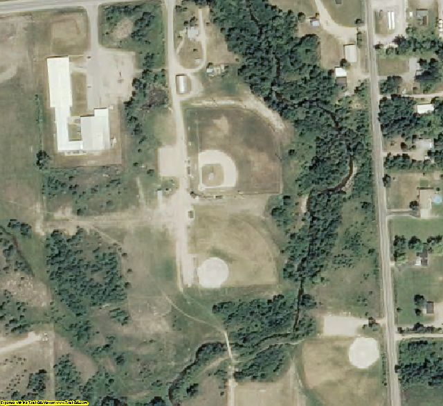 Ogemaw County, MI aerial photography detail