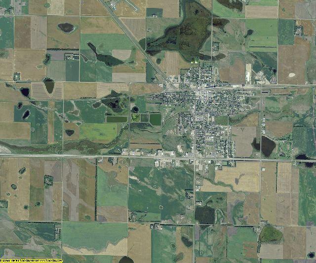 Pierce County, North Dakota aerial photography