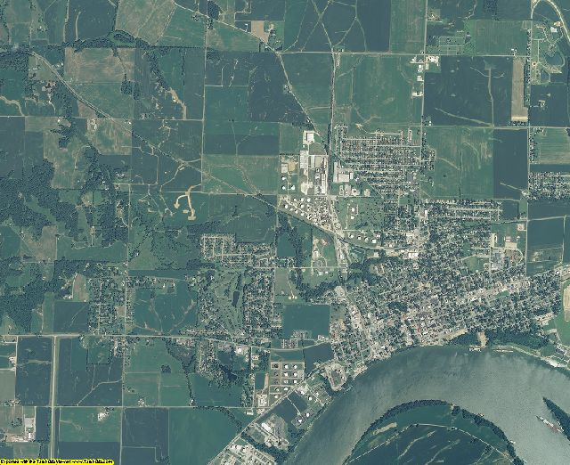 Posey County, Indiana aerial photography