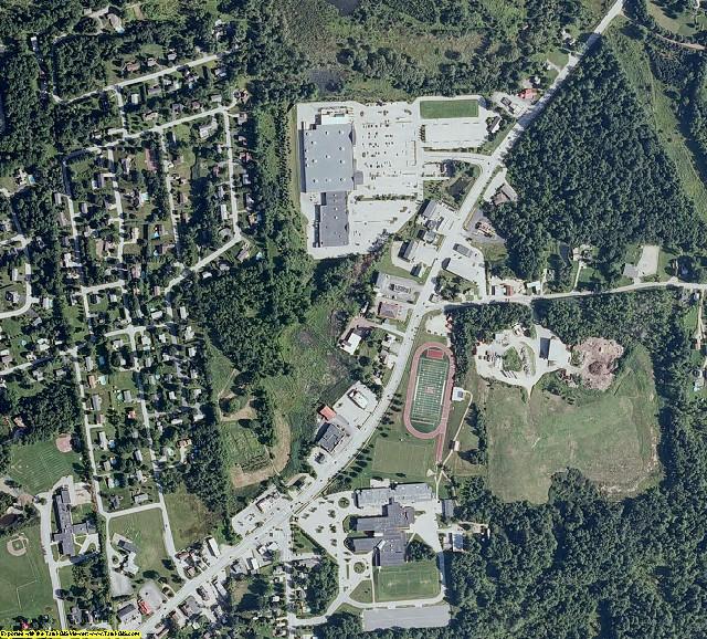 Rutland County, VT aerial photography detail