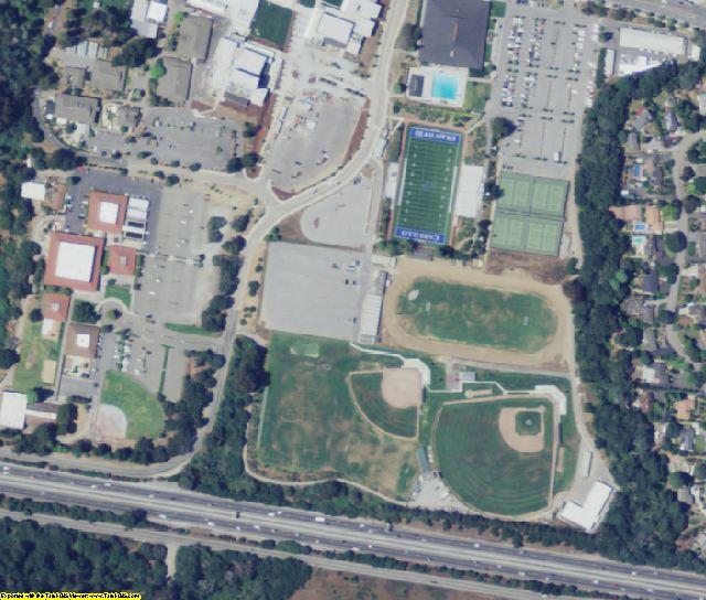 Santa Cruz County, CA aerial photography detail