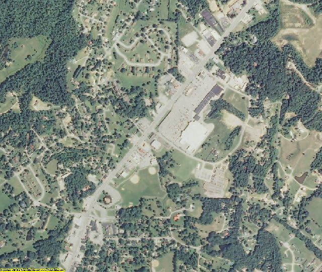 Scott County, TN aerial photography detail