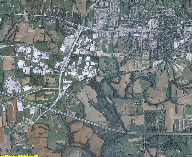 Shelby County, Kentucky aerial photography