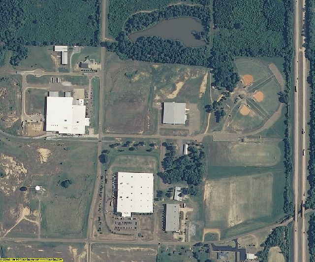 Tate County, MS aerial photography detail