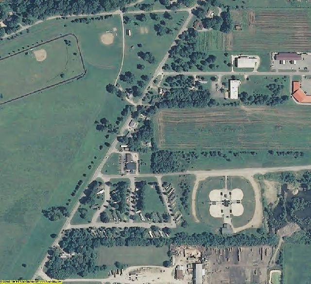 Vigo County, IN aerial photography detail