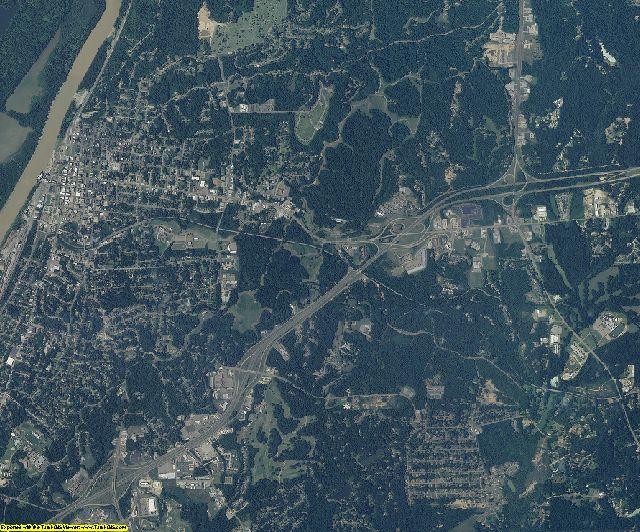 Warren County, Mississippi aerial photography