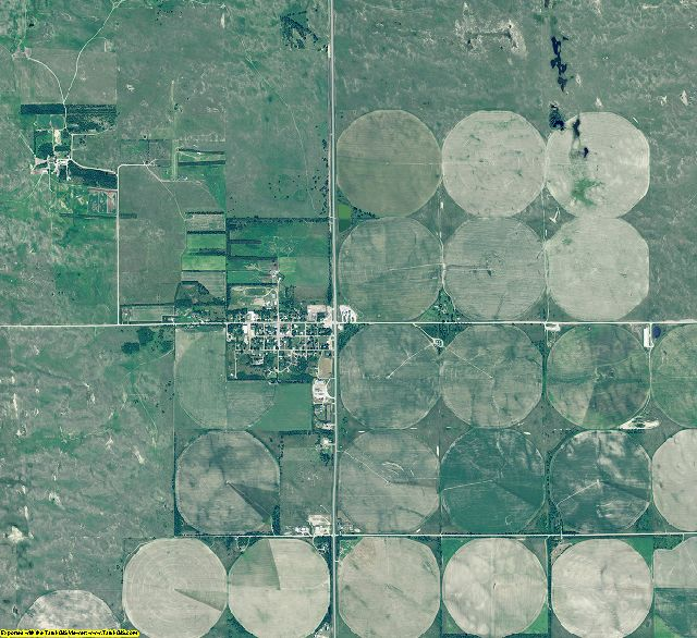 Wheeler County, Nebraska aerial photography