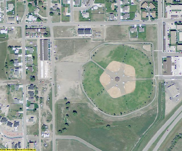 Williams County, ND aerial photography detail