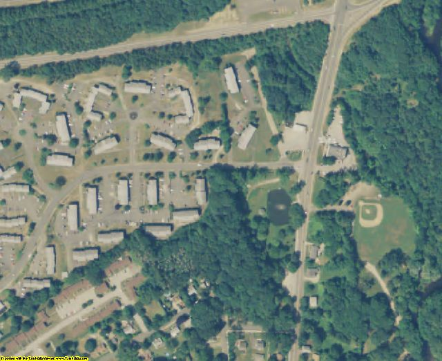 Windham County, CT aerial photography detail
