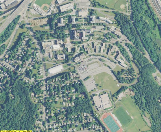 Worcester County, MA aerial photography detail