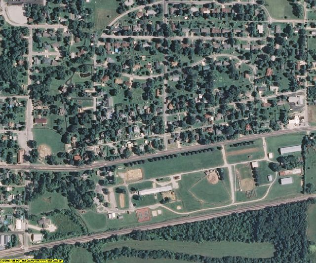Wright County, MO aerial photography detail