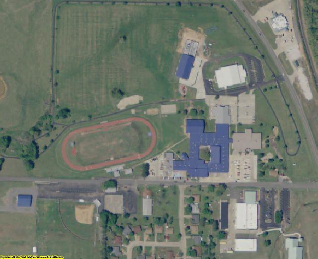 Adair County, OK aerial photography detail