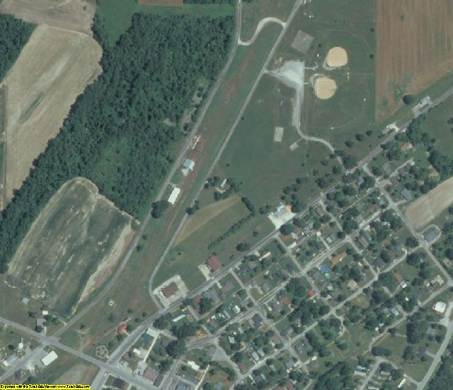 Alexander County, IL aerial photography detail
