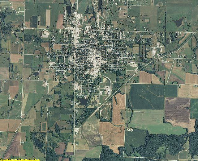 Anderson County, Kansas aerial photography