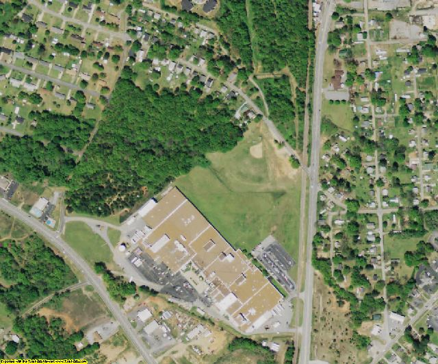 Anderson County, SC aerial photography detail