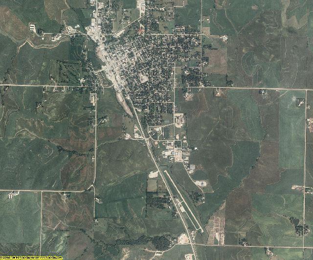 Audubon County, Iowa aerial photography
