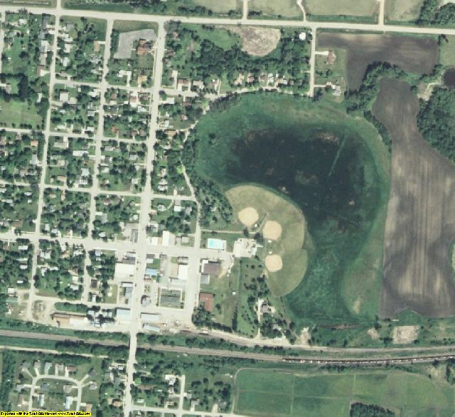 Becker County, MN aerial photography detail