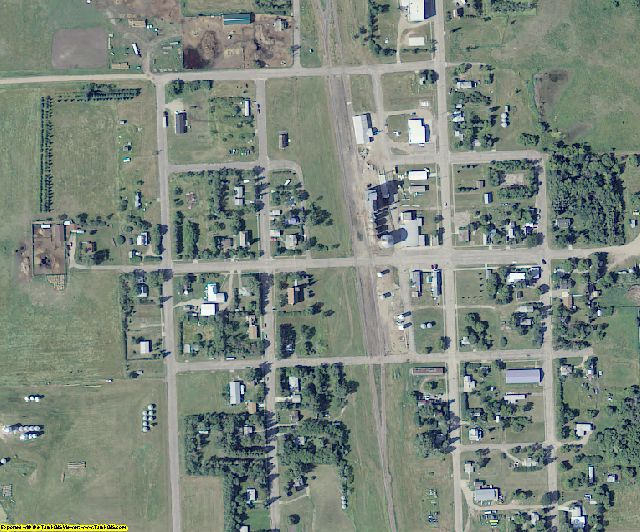 Benson County, ND aerial photography detail