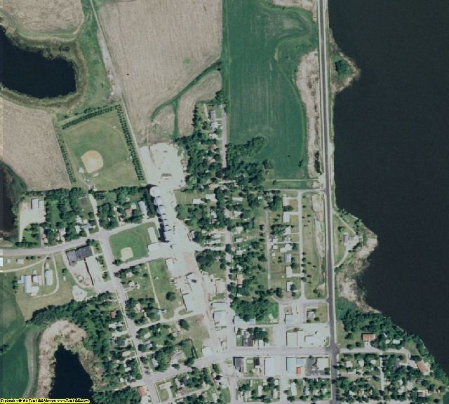 Big Stone County, MN aerial photography detail