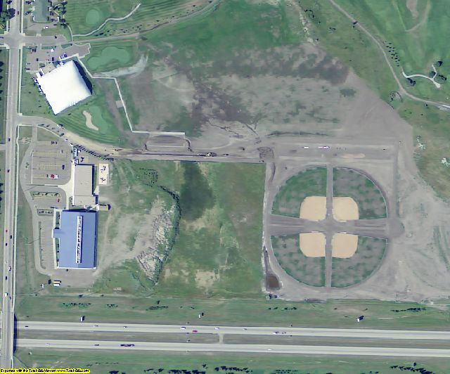 Burleigh County, ND aerial photography detail