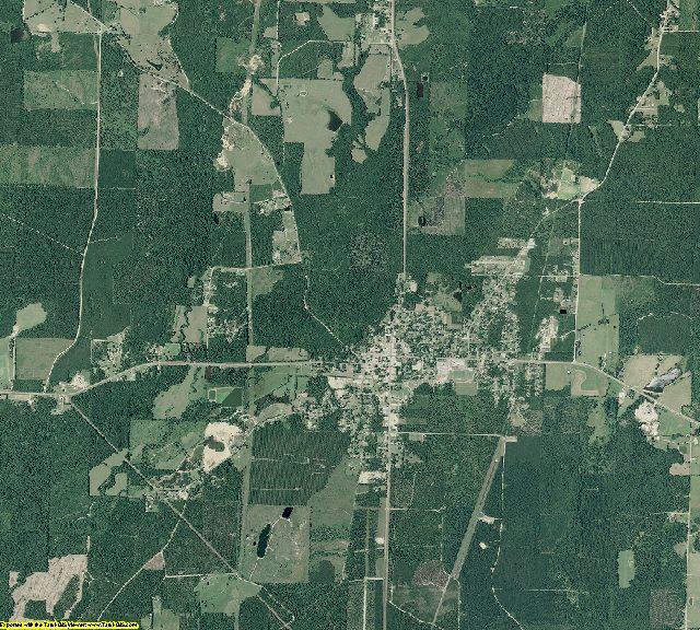 Calhoun County, Arkansas aerial photography