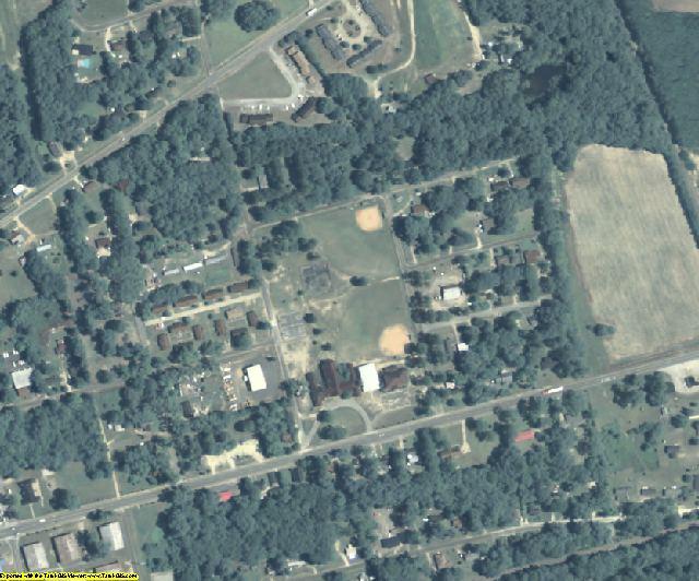 Calhoun County, GA aerial photography detail