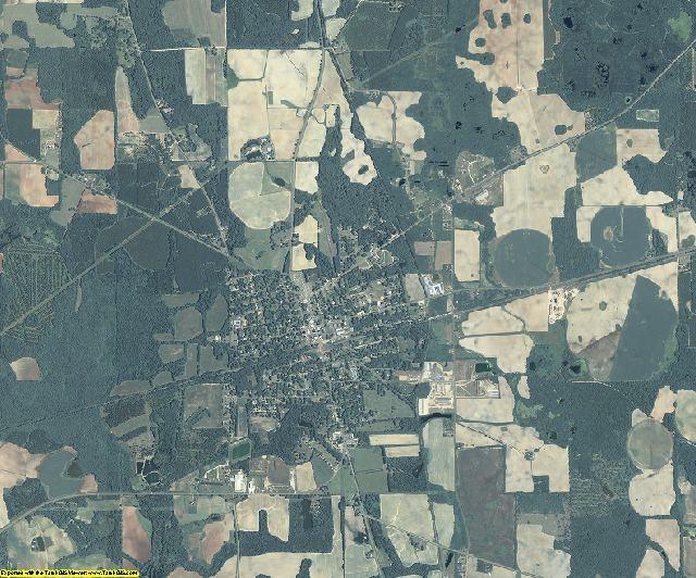 Calhoun County, Georgia aerial photography