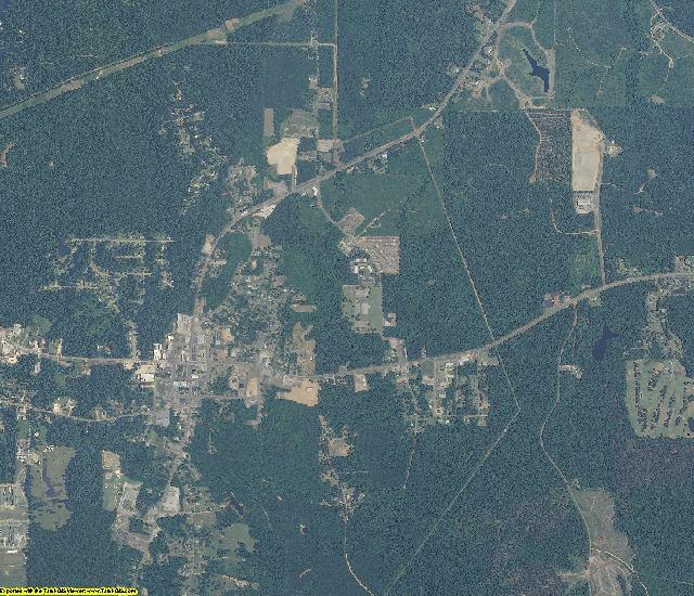Choctaw County, Alabama aerial photography