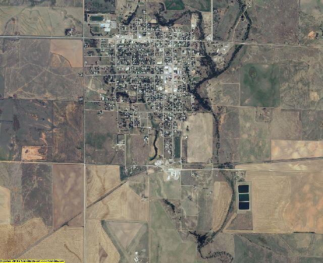 Clark County, Kansas aerial photography