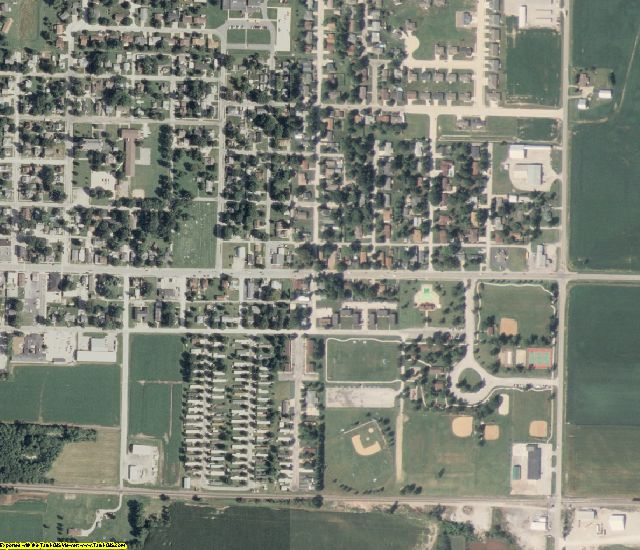 Clinton County, IL aerial photography detail